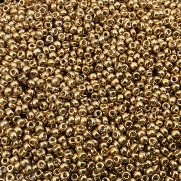 Size 11/0  Duracoat Galvanized Gold Genuine Miyuki Glass Seed Beads - Sold by 23 Gram Tubes (~2500 Beads per Tube) - (11-94202)