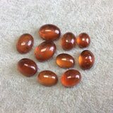 OOAK Natural Hessonite Garnet Oblong Oval Shaped Domed Back Cabochon - Measuring 10mm x 13mm, 7.25mm Dome Height - Quality Gemstone Cab