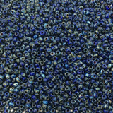 Size 11/0 Opaque Picasso Cobalt Blue Genuine Miyuki Glass Seed Beads - Sold by 23 Gm. Tubes (Approx. 2500 Beads per Tube) - (11-94518)
