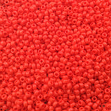 Size 11/0 Glossy Finish Opaque Red Genuine Miyuki Glass Seed Beads - Sold by 23 Gram Tubes (Approx. 2500 Beads per Tube) - (11-9407)