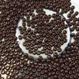 "Size 11/0 Glossy Finish Dark Brown Coated Brass Seed Beads with 1.1mm Holes - Sold by 2"", 13 Gram Tubes (~700 Beads per Tube) - (MT11-DKBWN)"