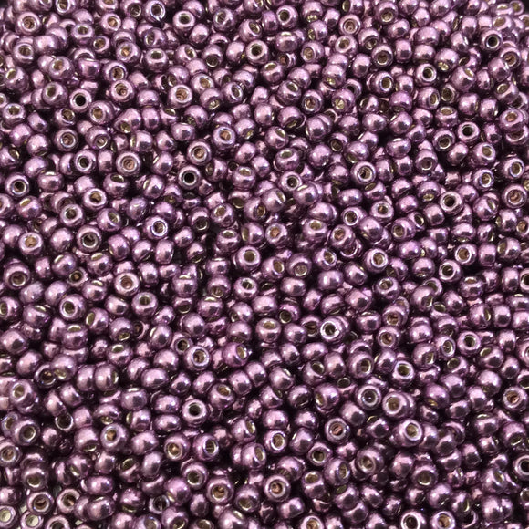 Size 11/0 Glossy Duracoat Galvanized Eggplant Genuine Miyuki Glass Seed Beads - Sold by 23 Gram Tubes (~2500 Beads per Tube) - (11-94220)