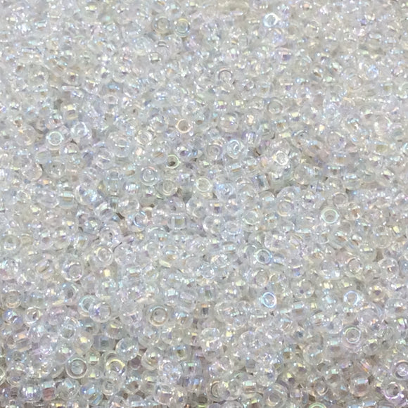 Size 11/0 Glossy Finish Crystal AB Miyuki Glass Seed Beads - Sold by 23 Gram Tubes (~ 2500 Beads / Tube) - (11-9250)