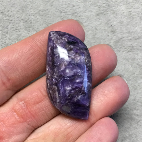 OOAK Natural Purple Charoite Freeform Shaped Flat Back Cabochon