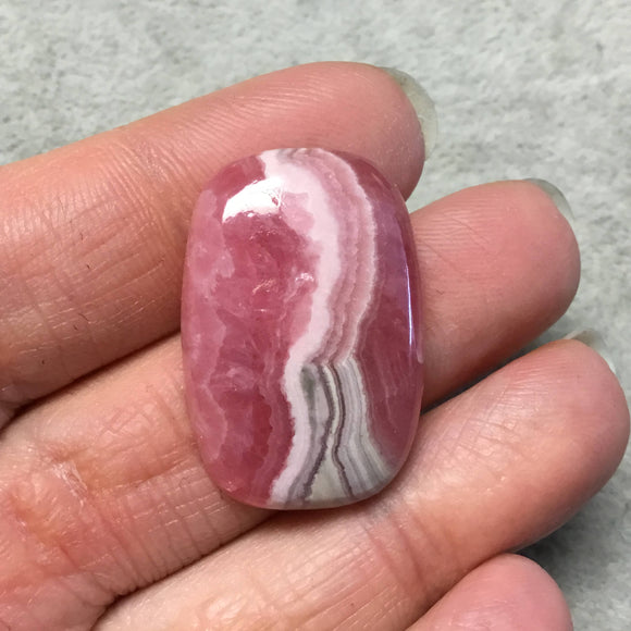 OOAK AAA Rhodochrosite Rectangle Shaped Flat Back Cabochon