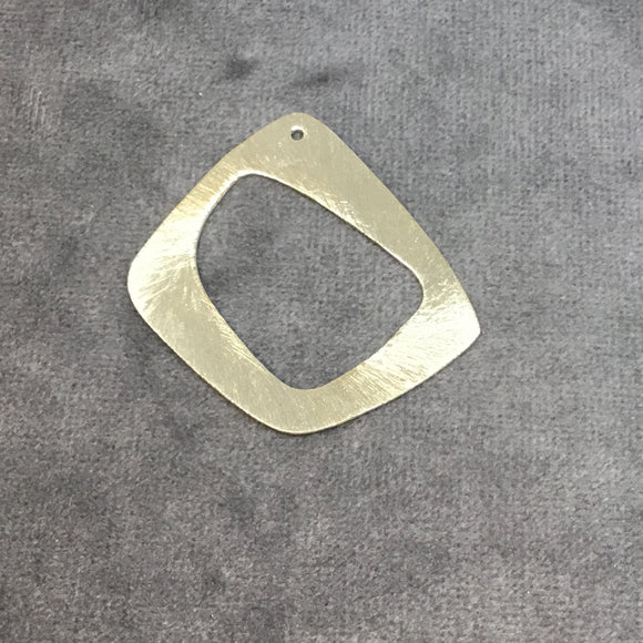 40mm x 40mm Gold Brushed Finish Thick Open Freeform Shaped Plated Copper Components - Sold in Pre-Counted Bulk Packs of 10 Pieces - (455-GD)