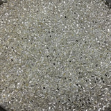 Size 11/0 Glossy Finish Silver-Lined Crystal Color Miyuki Glass Seed Beads - Sold by 23 Gram Tubes (~ 2500 Beads / Tube) - (11-91)