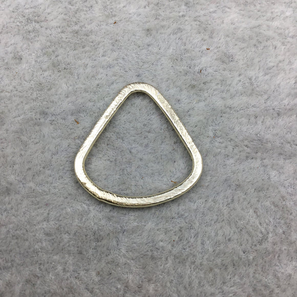 21mm x 22mm Gold Brushed Finish Open Wide Bottomed Teardrop Shaped Plated Copper Components - Sold in Packs of 10 Pieces - (502-GD)