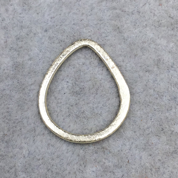 20mm x 26mm Gold Brushed Finish Open Teardrop Shaped Plated Copper Components - Sold in Pre-Counted Bulk Packs of 10 Pieces - (103-GD)