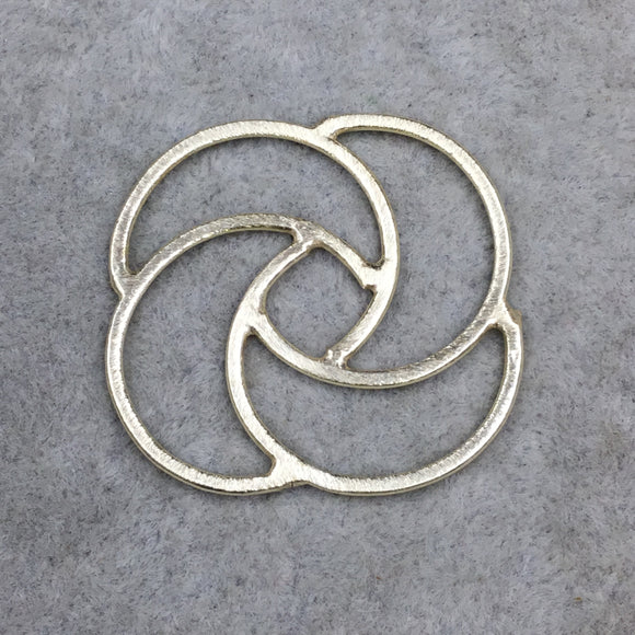 Gold Brushed Large Open Spiral Knot Shaped Link Plated Copper Components - Measuring 38mm x 38mm - Sold in Packs of 10 - (440-GD)