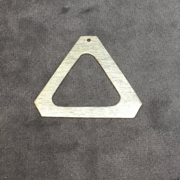 42mm x 37mm Gold Brushed Finish Thick Triangle Shaped Plated Copper Components - Sold in Pre-Counted Bulk Packs of 10 Pieces - (223-GD)