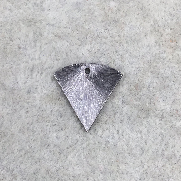 13mm x 13mm Gunmetal Brushed Finish Blank Inverted Triangle Shaped Plated Copper Components - Sold in Pre-Counted Packs of 10 Pieces
