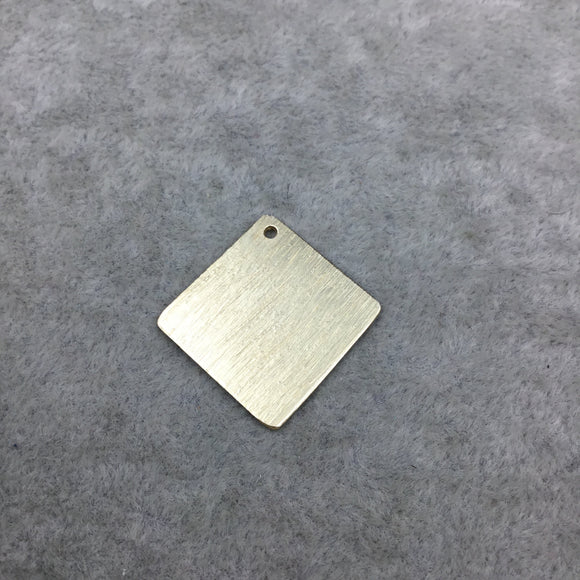 20mm x 20mm Gold Brushed Finish Blank DIamond Shaped Plated Copper Components - Sold in Pre-Counted Bulk Packs of 10 Pieces - (264-GD)