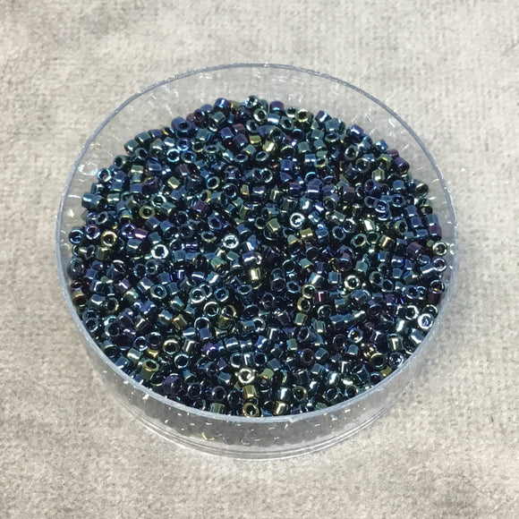 Size 11/0 Glossy Finish Metallic Blue Iris Genuine Miyuki Delica Glass Seed Beads - Sold by 7.2 Gram Tubes (Approx. 1300 Beads per 2
