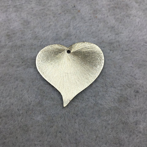 Gold Plated Copper Curved Blank Heart Pendant/Charm Components - Measuring 25mm x 24mm - Sold in Packs of 10 (480-GD)