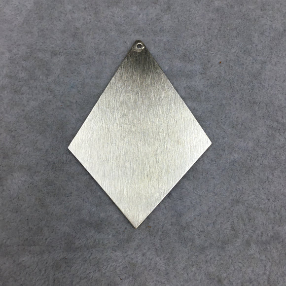 Large Blank Diamond/Kite Shaped Brushed Finish Copper Components - Measuring 46mm x 64mm - Sold in Packs of FOUR (267-GD)