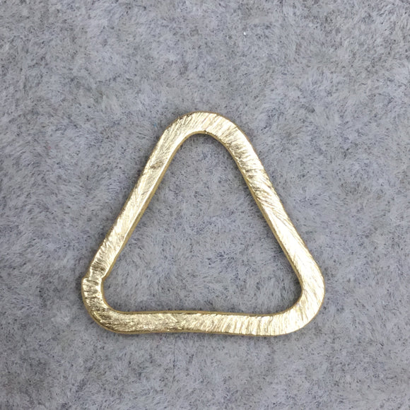 Gold Plated Copper Open Rounded Triangle Shaped Components - Measuring 19mm x 20mm - Sold in Packs of 10 (478-GD)