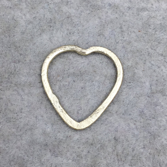 Brushed Finish Gold Plated Copper Open Heart Shaped Components - Measuring 20mm x 21mm - Sold in Packs of 10 (479-GD)