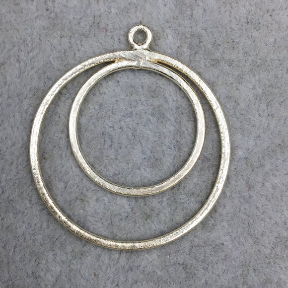 37mm x 37mm Large Sized Gold Plated Copper Double Nested Circular/Hoop Shaped Pendant Components - Sold in Packs of 10