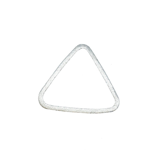 Large Sized Silver Plated Copper Open Rounded Triangle Shaped Components - Measuring 32mm x 33mm - Sold in Packs of 10 Components (221-GD)