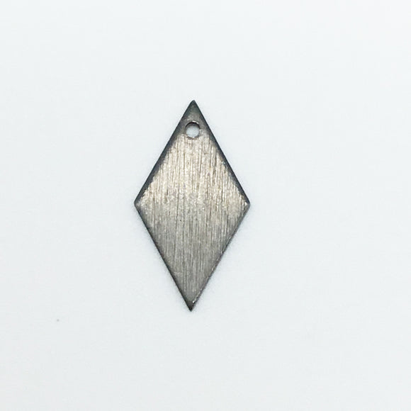 8mm x 15mm Gunmetal Brushed Finish Blank Diamond/Kite Shaped Plated Copper Components - Sold in Packs of 10 Pieces - (606-GM)
