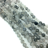 "6mm Smooth Mixed Gray Agate Round/Ball Shaped Beads - 15.5"" Strand (Approximately 64 Beads) - Natural Semi-Precious Gemstone"
