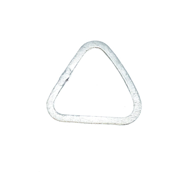 Silver Plated Copper Open Rounded Triangle Shaped Components - Measuring 19mm x 20mm - Sold in Packs of 10 (478-SV)