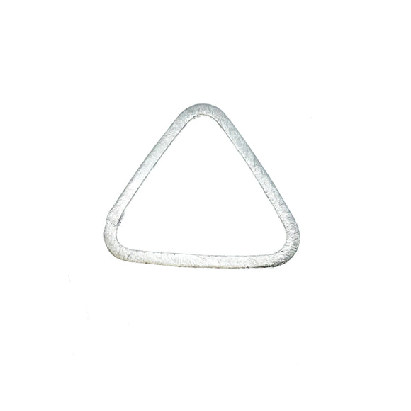 Medium Sized Silver Plated Copper Open Rounded Triangle Shaped Components - Measuring 27mm x 26mm - Sold in Packs of 10 (220-GD)