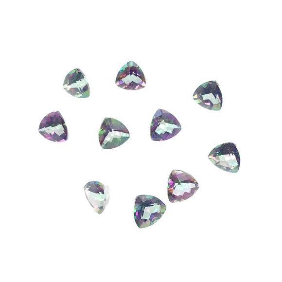 6mm Loose Trillion Cut Mystic Topaz Natural Gemstone - Sold Individually, Selected at Random