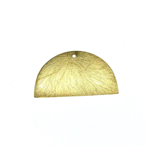 Beadlanta Rich Gold Finish - 33mm x 20mm Blank Semi Circle Shaped Plated Copper Jewelry Components (one hole) - Sold in Packs of 2