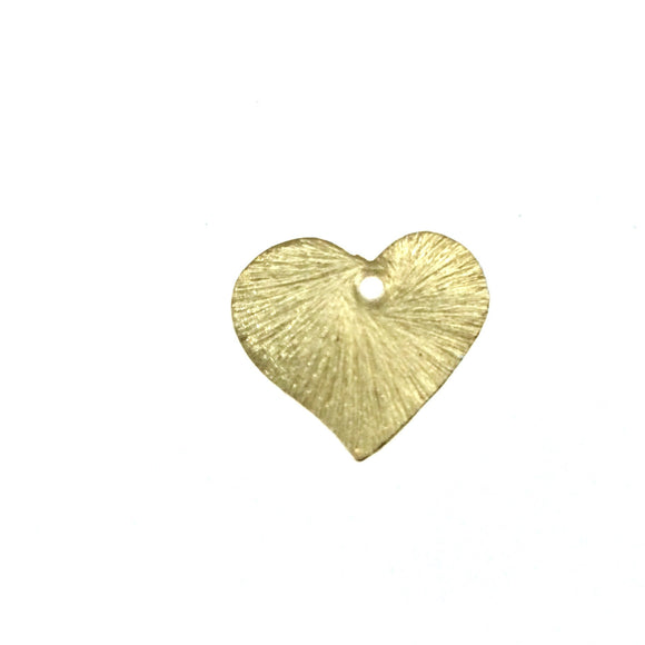 Beadlanta Rich Gold Finish - 15mm x 16mm Curved Blank Heart Pendant/Charm Plated Copper Jewelry Components - Sold in Packs of 2