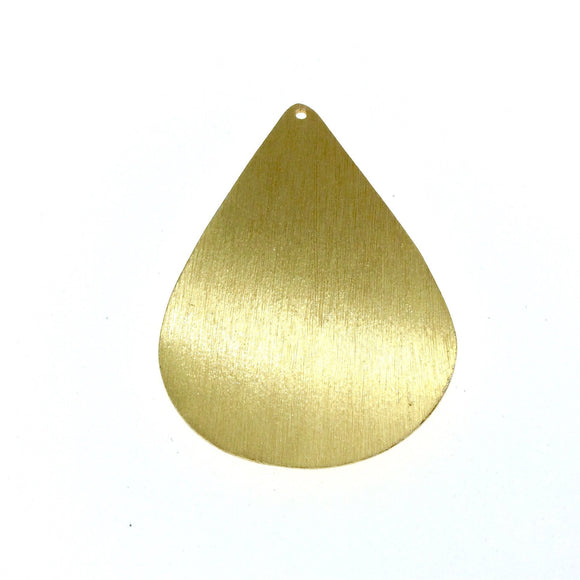 Beadlanta Rich Gold Finish - 38mm x 55mm Blank Teardrop Shaped Plated Copper Jewelry Components - Sold in Packs of 2