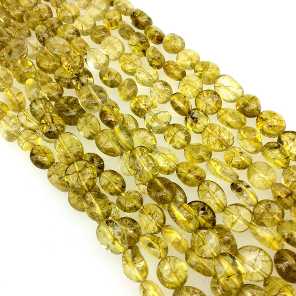 Smooth Lemon Citrine Pebble/Nugget Beads - 15.5