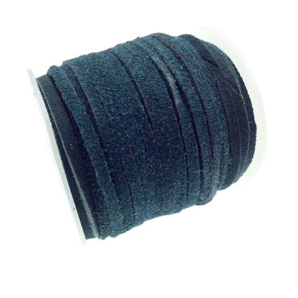 FULL SPOOL - Matte Dark Green Beadlanta Suede Leather Cord - Measuring 3mm - 25 yards per spool - Flat Jewelry Cord