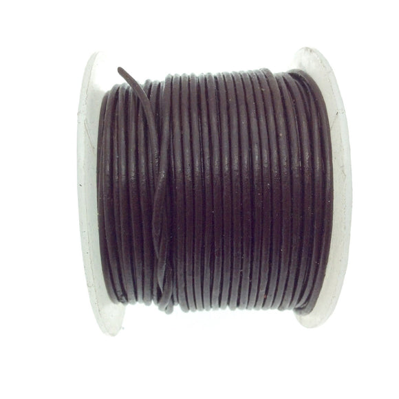 FULL SPOOL - Dark Brown Beadlanta Leather Cord - Measuring 1.5mm - 25 yards per spool - Round Leather Jewelry Cord