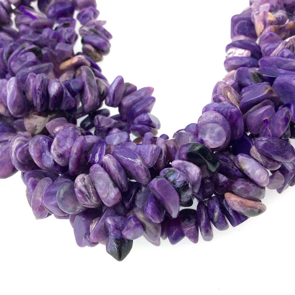 Purple Charoite Nugget Beads - 15.5