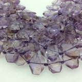 "15mm x 20mm Glossy Finish Pale Amethyst Faceted Rectangle Shaped Beads with 1mm Holes - 15"" Strand (Approx. 21 Beads per Strand)"