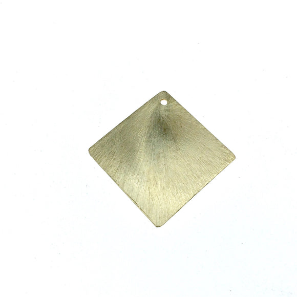 26mm x 26mm Gold Plated Blank Diamond Shaped Brushed Finish Copper Components - Sold in Packs of 10