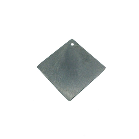 26mm x 26mm Gunmetal Plated Blank Diamond Shaped Brushed Finish Copper Components - Sold in Packs of 10