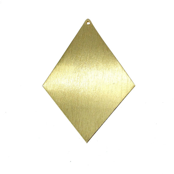 Beadlanta Rich Gold Finish - 46mm x 64mm Large Blank Diamond/Kite Shaped Plated Copper Jewelry Components - Sold in Packs of Two