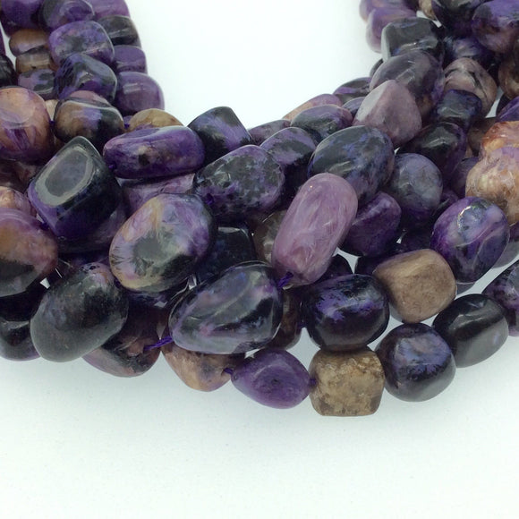 Purple Charoite Nugget/Tumble Beads - 16