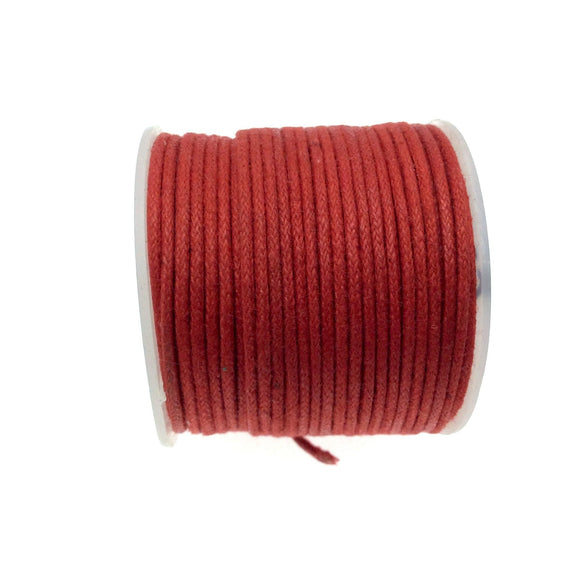 FULL SPOOL - Red Beadlanta Waxed Cotton Cord - Measuring 1.5mm - 27 yards per spool - Round Cotton Jewelry Cord