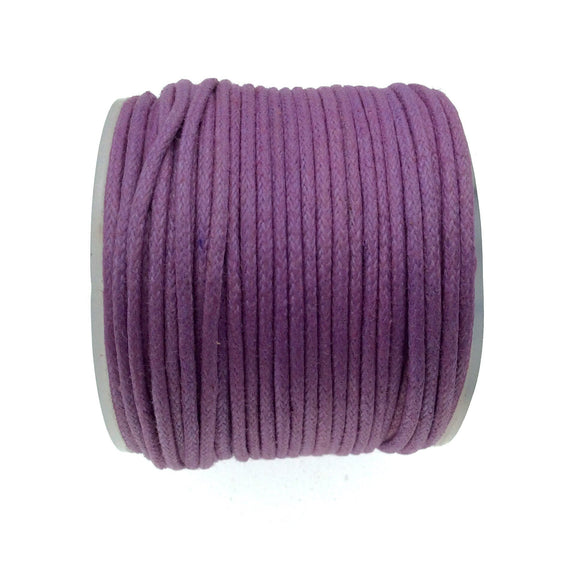 FULL SPOOL - Deep Lavender Beadlanta Waxed Cotton Cord - Measuring 1.5mm - 27 yards per spool - Round Cotton Jewelry Cord
