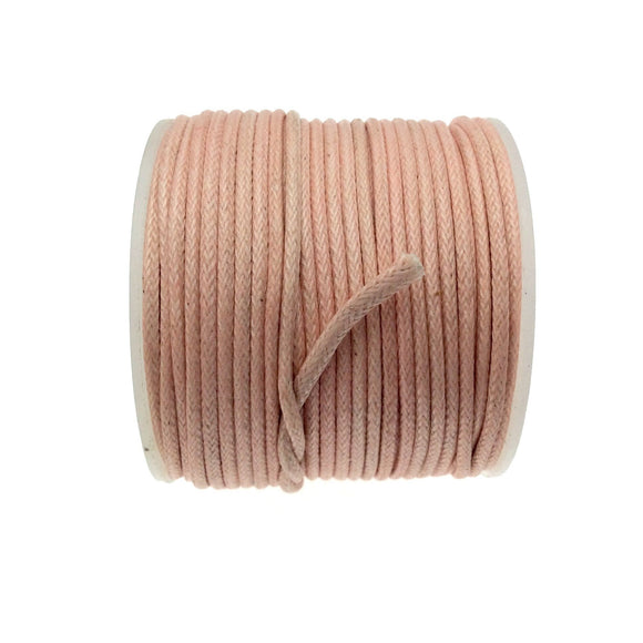 FULL SPOOL - Light Pink Beadlanta Waxed Cotton Cord - Measuring 1.5mm - 27 yards per spool - Round Cotton Jewelry Cord