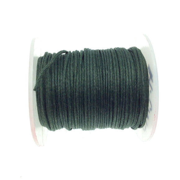 FULL SPOOL - Forest Green Beadlanta Waxed Cotton Cord - Measuring .5mm - 27 yards per spool - Round Cotton Jewelry Cord