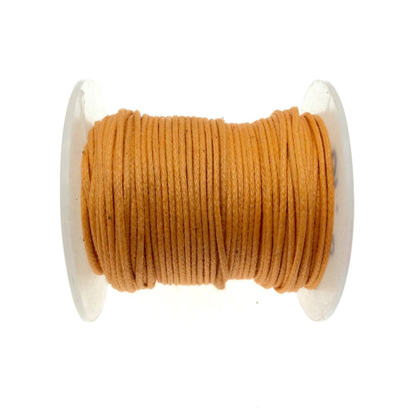 FULL SPOOL - Bright Orange Beadlanta Waxed Cotton Cord - Measuring .5mm - 27 yards per spool - Round Cotton Jewelry Cord