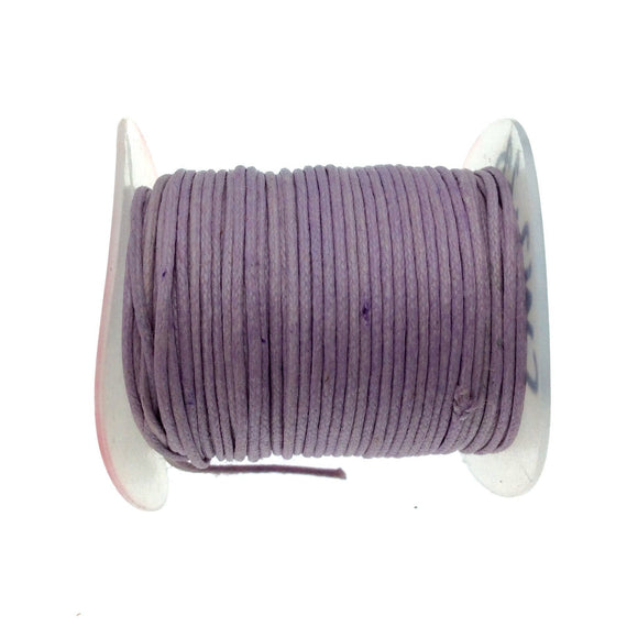 FULL SPOOL - Light Lavender Beadlanta Waxed Cotton Cord - Measuring .5mm - 27 yards per spool - Round Cotton Jewelry Cord