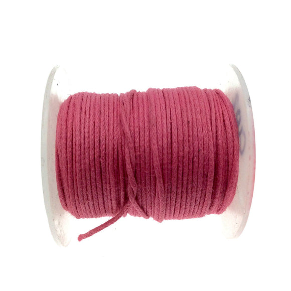 FULL SPOOL - Rose Pink Beadlanta Waxed Cotton Cord - Measuring .5mm - 27 yards per spool - Round Cotton Jewelry Cord