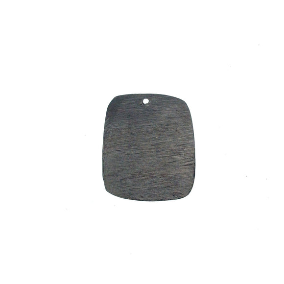 20mm x 24mm Gunmetal Brushed Finish Blank Rectangle Shaped Plated Copper Components - Sold in Pre-Counted Bulk Packs of 10 Pieces - (168-GM)