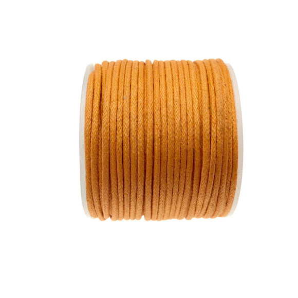 FULL SPOOL - Bright Orange Beadlanta Waxed Cotton Cord - Measuring 1.5mm - 27 yards per spool - Round Cotton Jewelry Cord